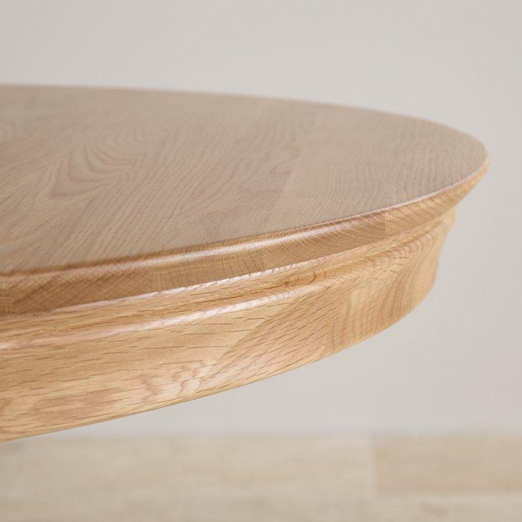 Natural Solid Oak 4ft Round Pedestal Table