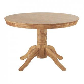 Pedestal Natural Solid Oak 4ft Round Table