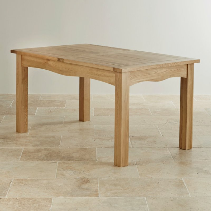 5ft X 3ft Cairo Natural Solid Oak Extending Dining Table