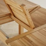 Cairo Natural Solid Oak 5ft x 3ft Extending Dining Table - Thumbnail 5
