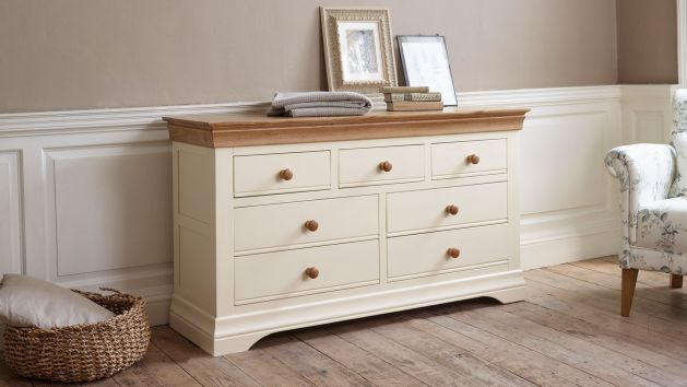 Mango and Painted Chest of Drawers