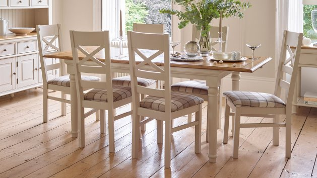 Painted and Mango Dining Chairs