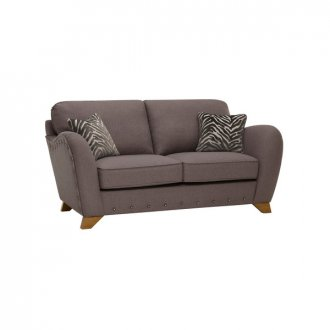 Abbey 2 Seater High Back Sofa in Vixen Ash with Festival Grey Scatters