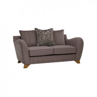 Abbey 2 Seater Pillow Back Sofa in Vixen Ash with Festival Grey Scatters