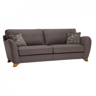 Abbey 4 Seater High Back Sofa in Vixen Ash with Festival Grey Scatters