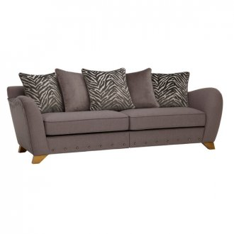 Abbey 4 Seater Pillow Back Sofa in Vixen Ash with Festival Grey Scatters