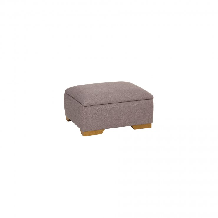 Abbey Traditional Storage Footstool in Vixen Ash  - Image 2