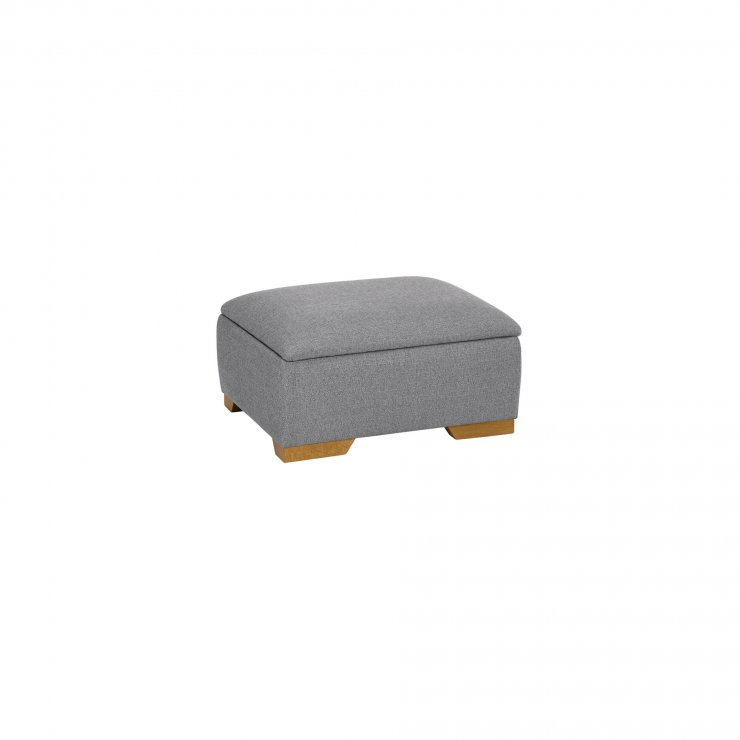 Abbey Traditional Storage Footstool in Vixen Silver  - Image 2