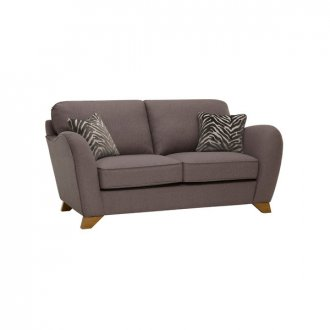 Abbey Traditional 2 Seater High Back Sofa in Vixen Ash with Festival Grey Scatters