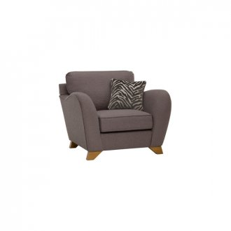Abbey Traditional Armchair in Vixen Ash with Festival Grey Scatters