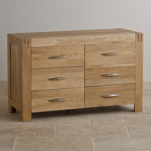 Alto Natural Solid Oak 6 Drawer Chest