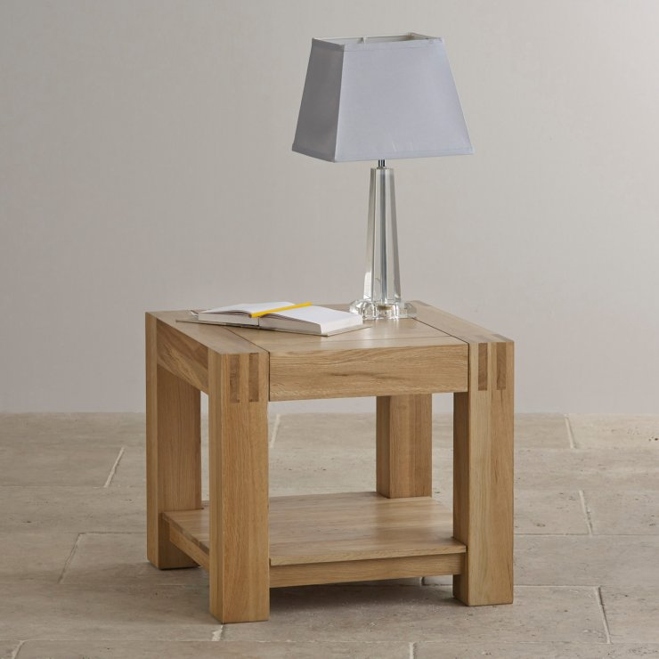 Alto Natural Solid Oak Bedside Table
