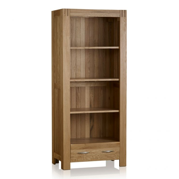Alto Natural Solid Oak Tall Bookcase - Image 1