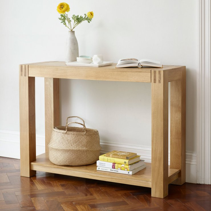 Alto Natural Solid Oak Console Table
