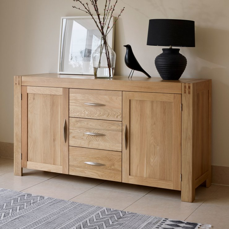 Alto Natural Solid Oak Large Sideboard Oak Furniture Land
