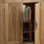 Alto Natural Solid Oak Media Storage Unit - Thumbnail 4