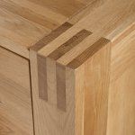 Alto Natural Solid Oak Media Storage Unit - Thumbnail 5
