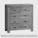 Alto Natural Solid Oak 3+2 Drawer Chest - Thumbnail 3