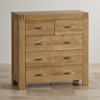 Alto Natural Solid Oak 3+2 Drawer Chest