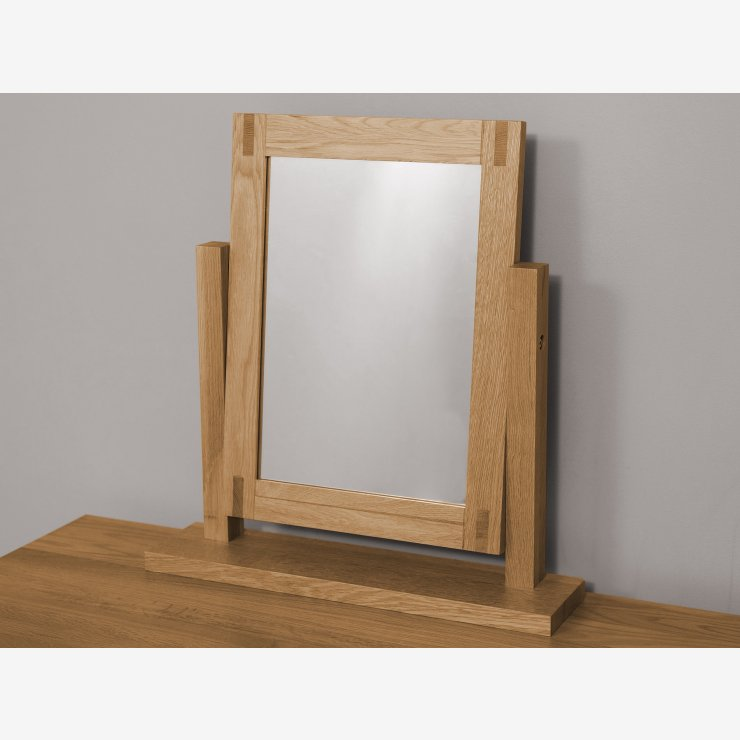 Alto Natural Solid Oak Dressing Table Mirror