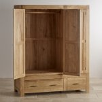 Alto Natural Solid Oak Triple Wardrobe - Thumbnail 4