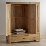 Alto Natural Solid Oak Triple Wardrobe - Thumbnail 3