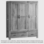 Alto Natural Solid Oak Triple Wardrobe - Thumbnail 5