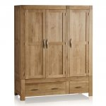 Alto Natural Solid Oak Triple Wardrobe - Thumbnail 1