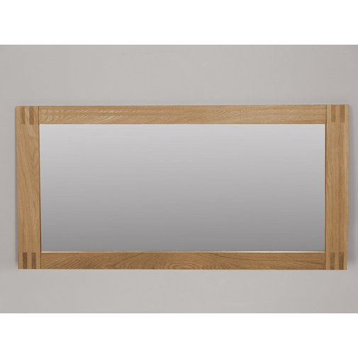 Alto Natural Solid Oak 1200 x 600 Wall Mirror