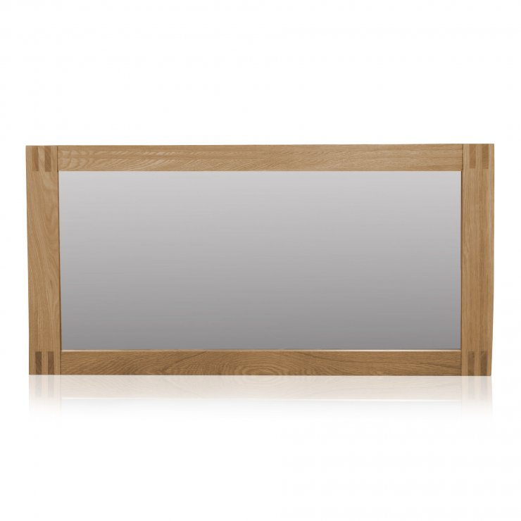 Alto Natural Solid Oak 1200 x 600 Wall Mirror - Image 3