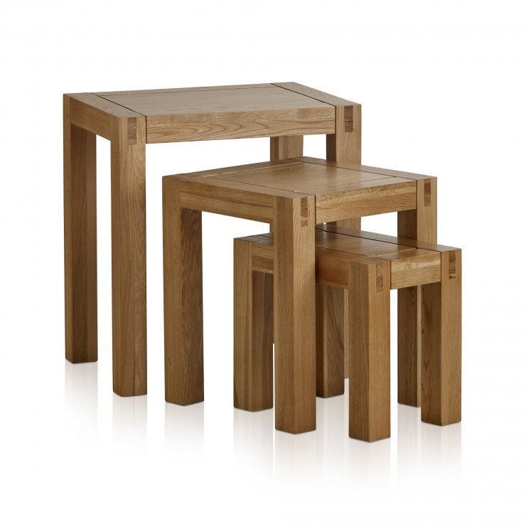 Alto Natural Solid Oak Nest of Tables - Image 4
