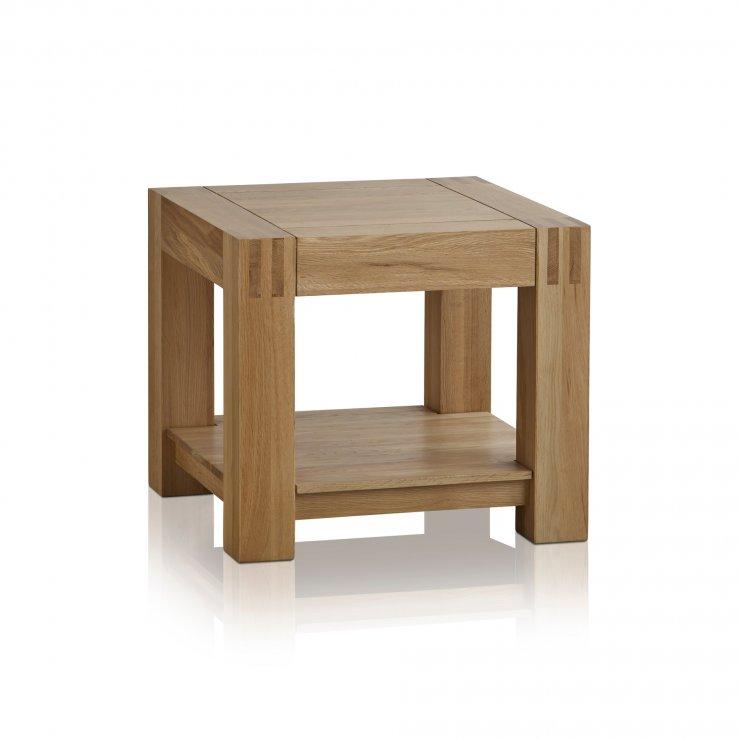 Alto Natural Solid Oak Side Table - Image 4