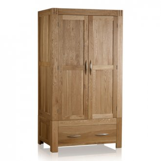 Alto Natural Solid Oak Double Wardrobe