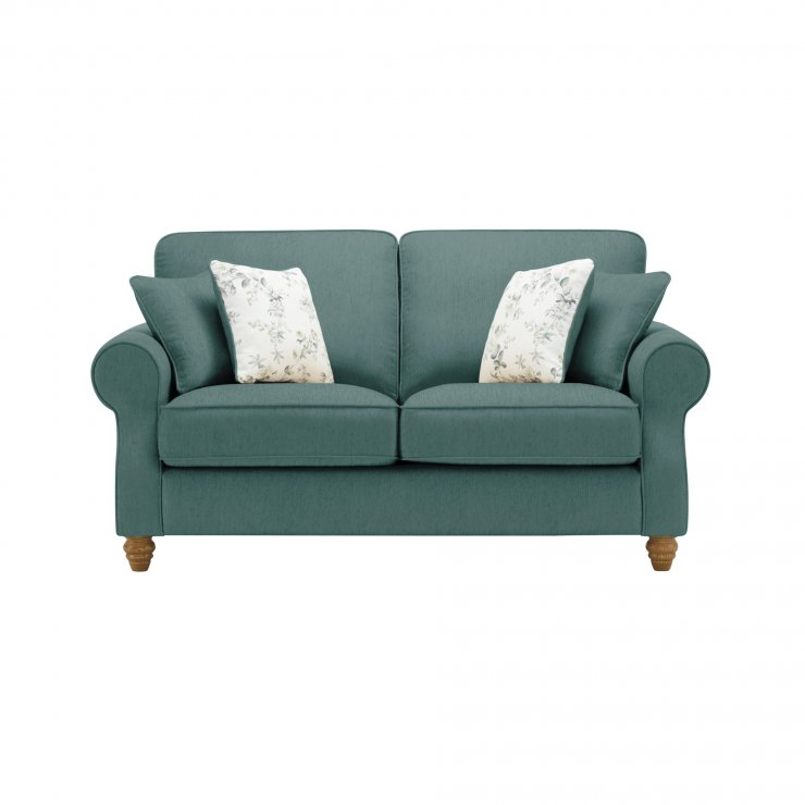 Amelia 2 Seater Sofa in Polla Cornflower with Rippon Natural Scatters - Image 1