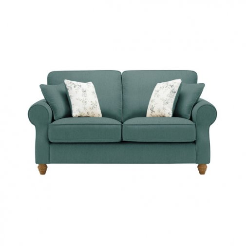 Amelia 2 Seater Sofa in Polla Cornflower with Rippon Natural Scatters