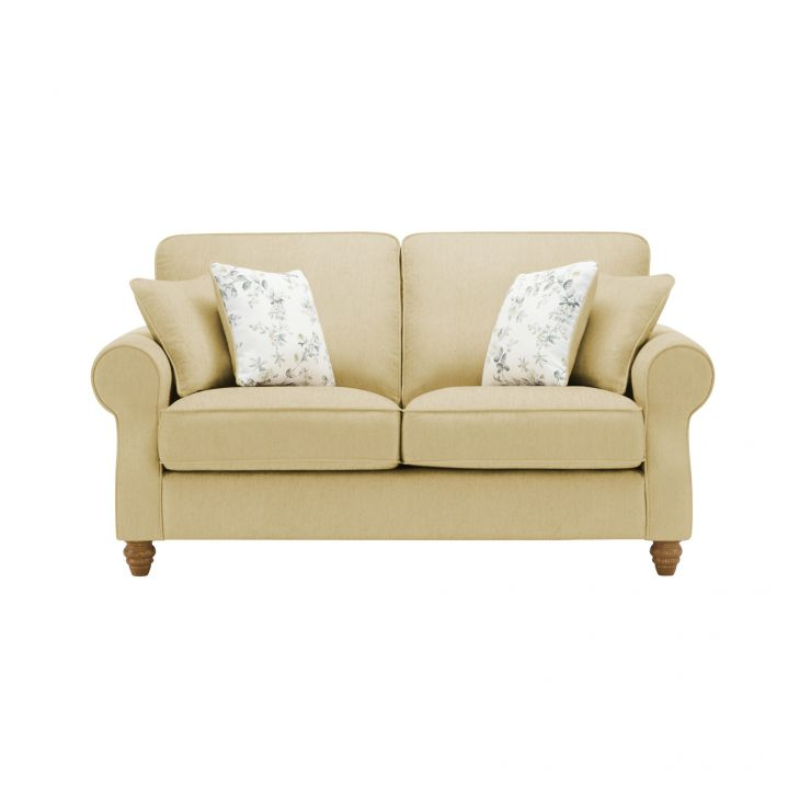 Amelia 2 Seater Sofa in Polla Meadow with Rippon Natural Scatters - Image 1
