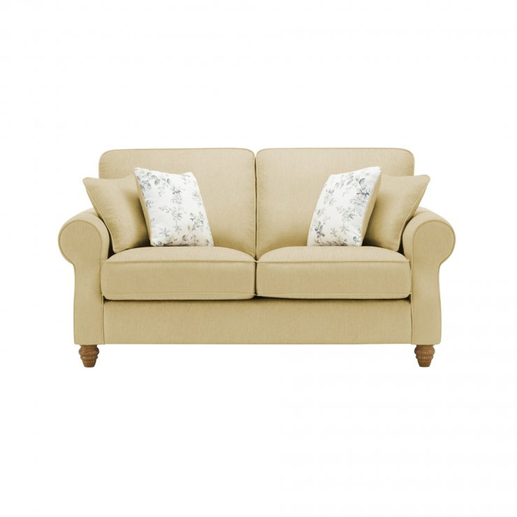 Amelia 2 Seater Sofa in Polla Meadow with Rippon Natural Scatters