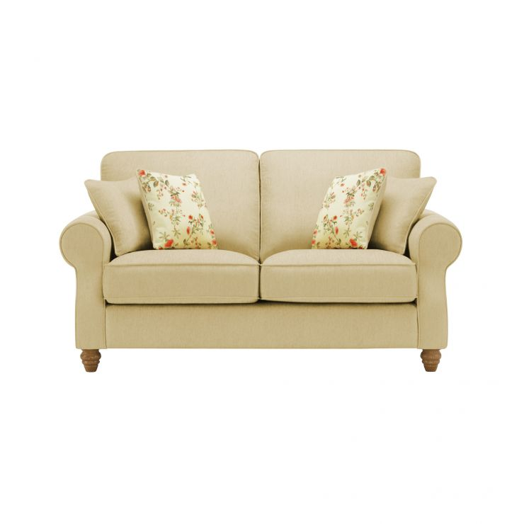 Amelia 2 Seater Sofa in Polla Meadow with Rippon Rose Scatters - Image 1