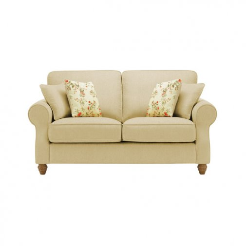 Amelia 2 Seater Sofa in Polla Meadow with Rippon Rose Scatters