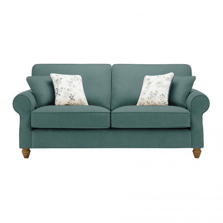 Amelia 3 Seater Sofa in Polla Cornflower with Rippon Natural Scatters - Image 1