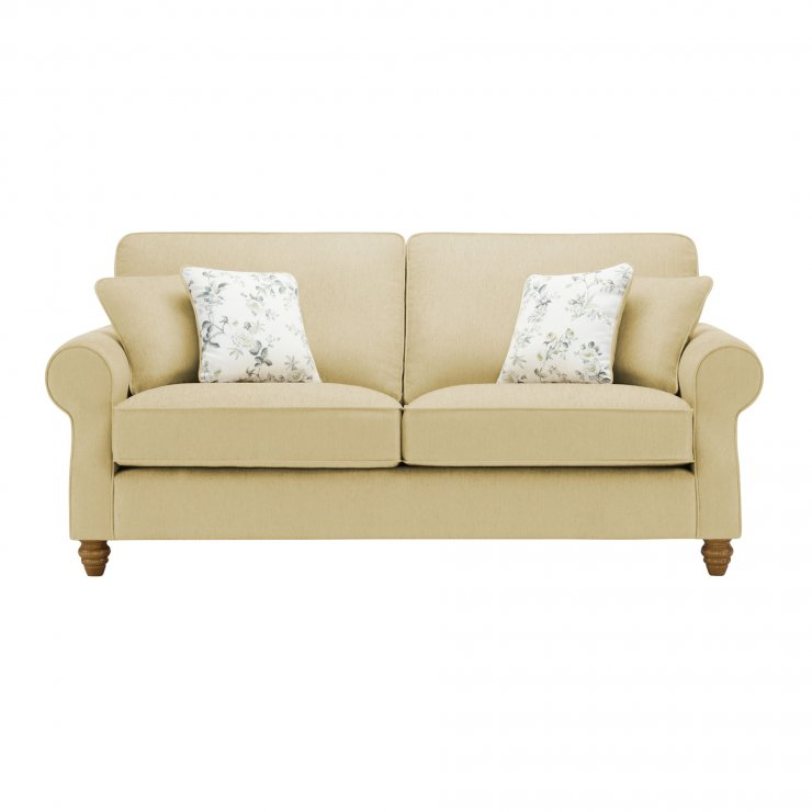 Amelia 3 Seater Sofa in Polla Meadow with Rippon Natural Scatters - Image 1