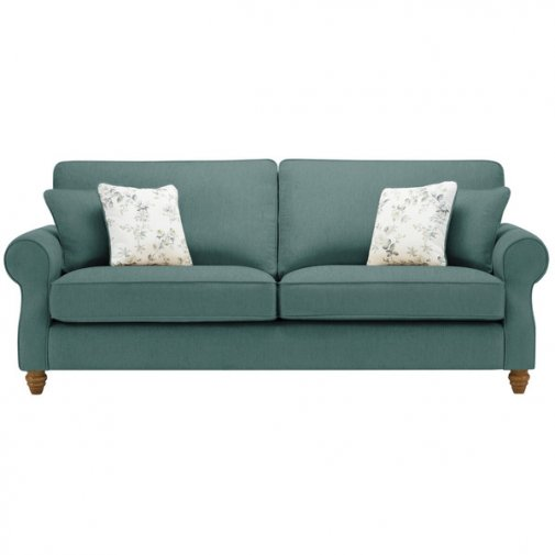 Amelia 4 Seater Sofa in Polla Cornflower with Rippon Natural Scatters