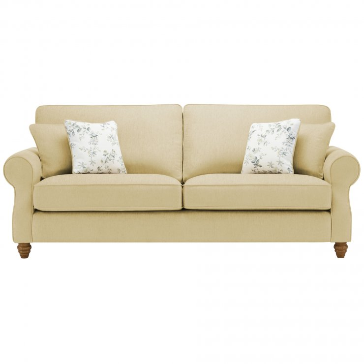 Amelia 4 Seater Sofa in Polla Meadow with Rippon Natural Scatters