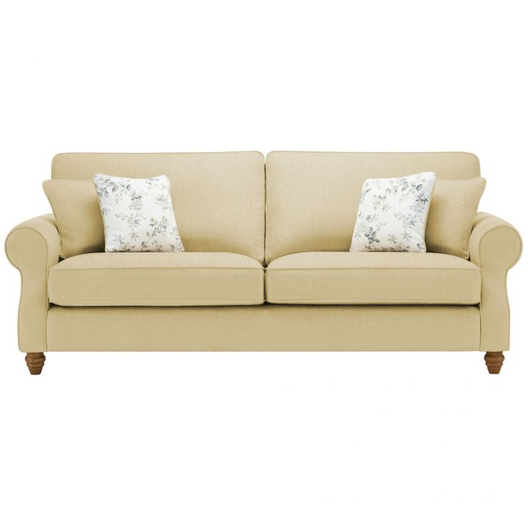 Amelia 4 Seater Sofa in Polla Meadow with Rippon Natural Scatters - Image 1