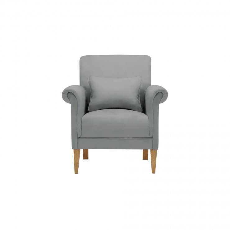 Amelia Accent Chair in Polla Grey - Image 1