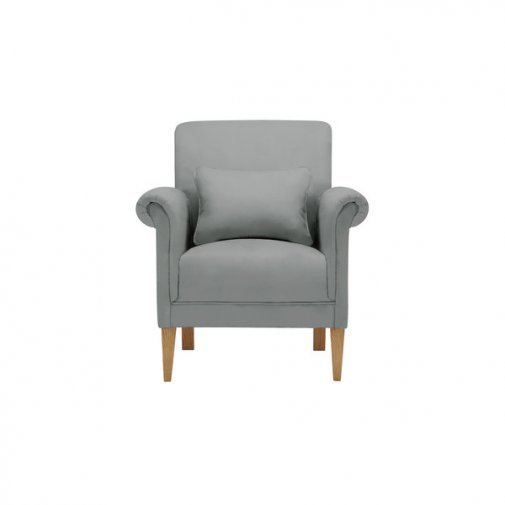 Amelia Accent Chair in Polla Grey