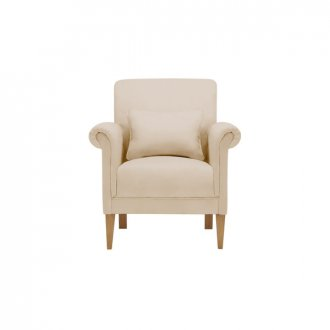 Amelia Accent Chair in Polla Oatmeal