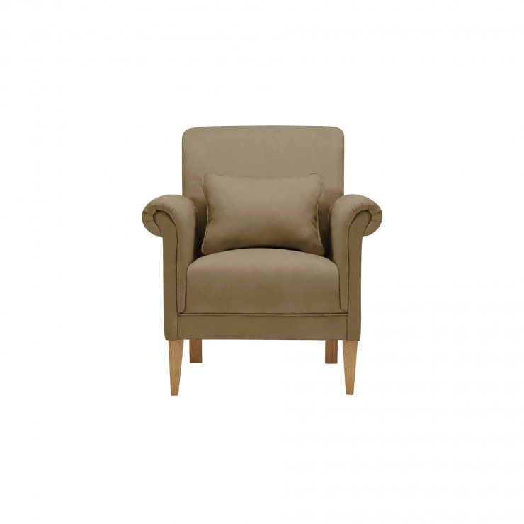 Amelia Accent Chair in Polla Silver - Image 1