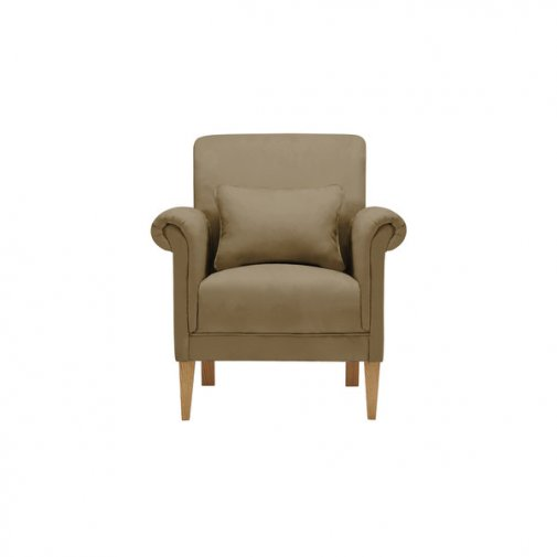 Amelia Accent Chair in Polla Silver