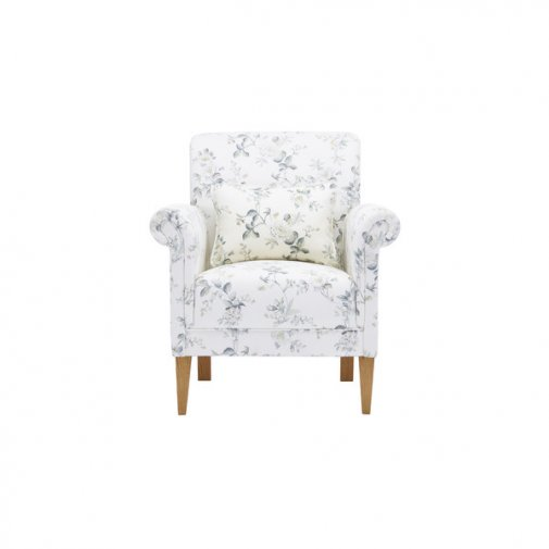 Amelia Accent Chair in Natural Grey